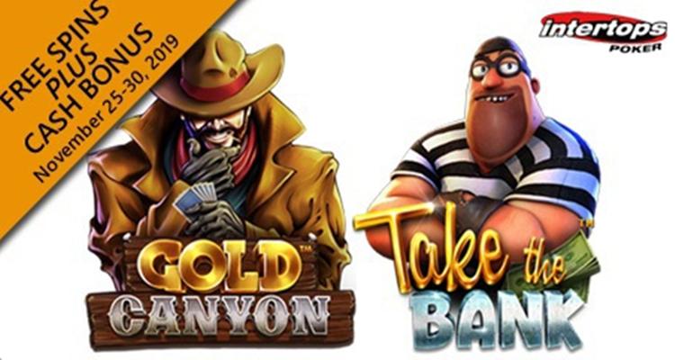Intertops Poker เปิดตัวโปรโมชั่นผ่านช่องทางใหม่ของ Take the Bank และ Gold Canyon